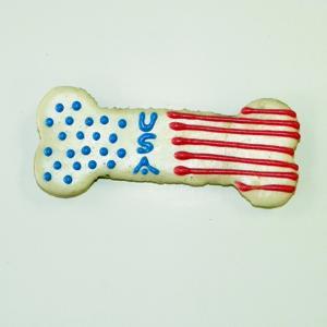 5 inch Patriotic bone